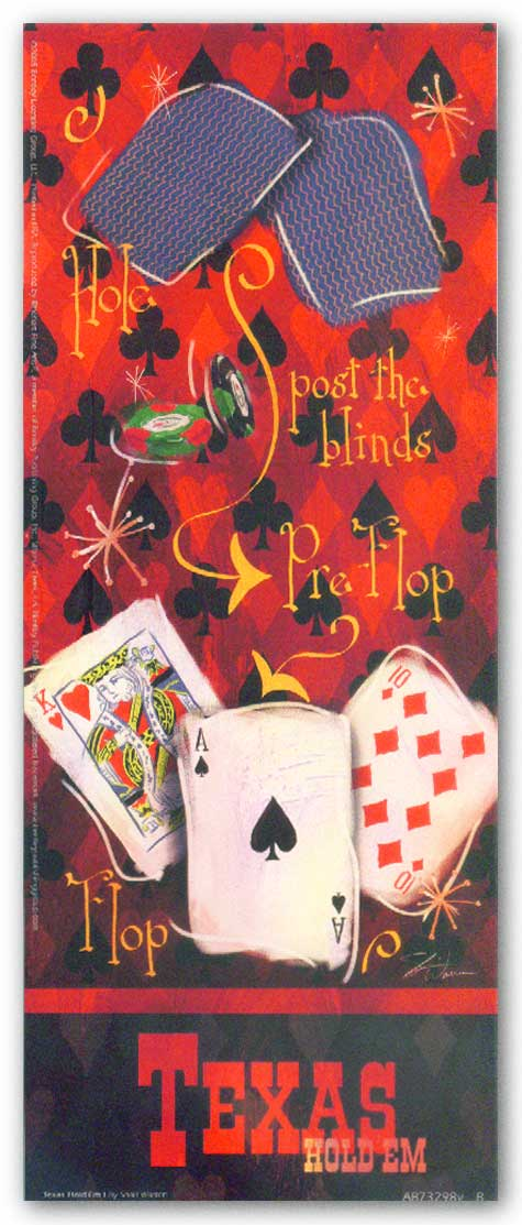 Texas Hold 'Em I by Shari Warren