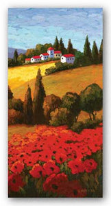 Tuscan Poppies Panel II by Parrocel