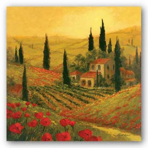 Poppies Of Toscano II by Art Fronckowiak
