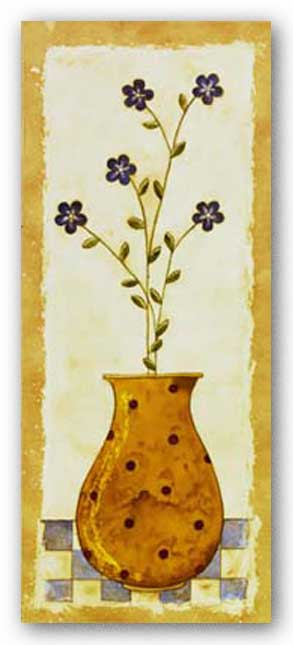 Polka Dot Flower Pot I by Karen Good
