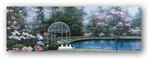 Lakeside Gazebo Panel by Diane Romanello