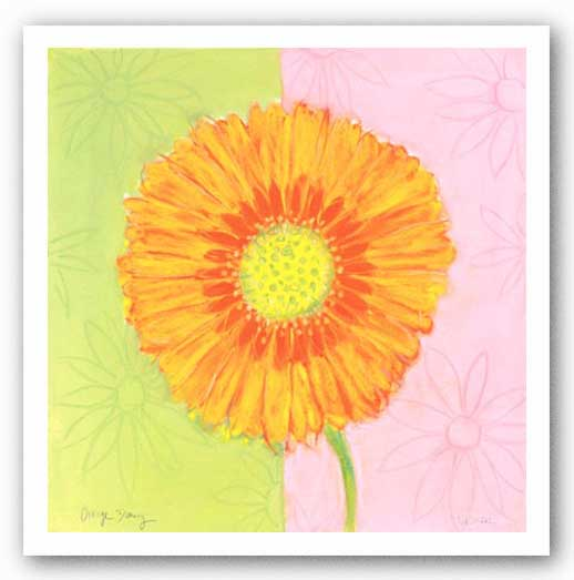 Orange Daisy by Dona Turner