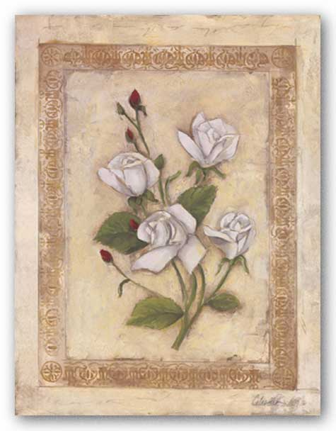 Rosas Blancas ll by Celeste Peters