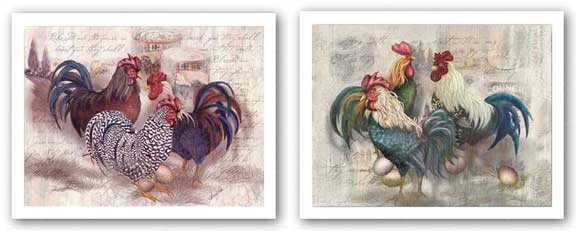 Rooster Trio and Trinity Set by Alma Lee