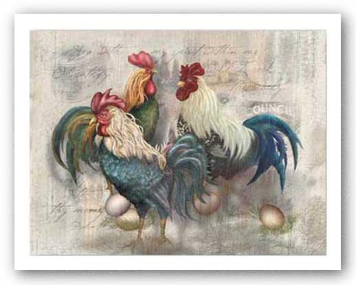 Rooster Trio by Alma Lee