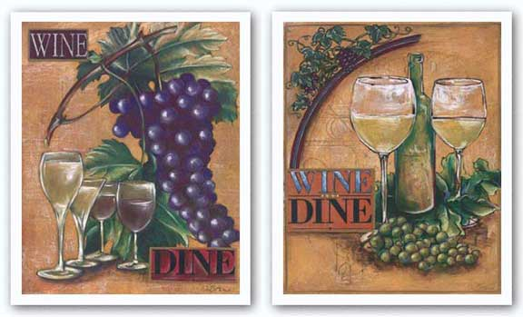 Wine and Dine Set by Susan Osborne