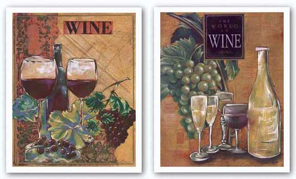 World of Wine Set by Susan Osborne