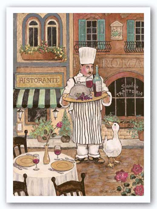 Chef with Wine by Betty Whiteaker