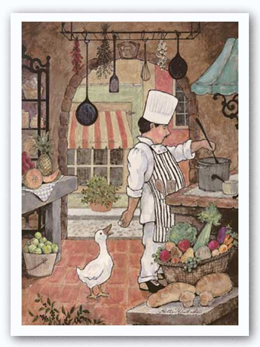 Chef with Goose by Betty Whiteaker