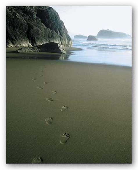 Ocean Footprints by Ruth Burke