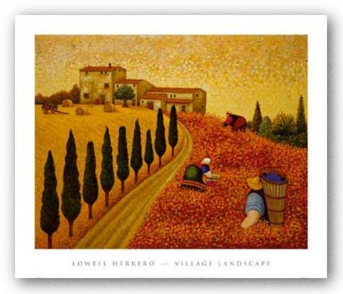 Village Landscape by Lowell Herrero