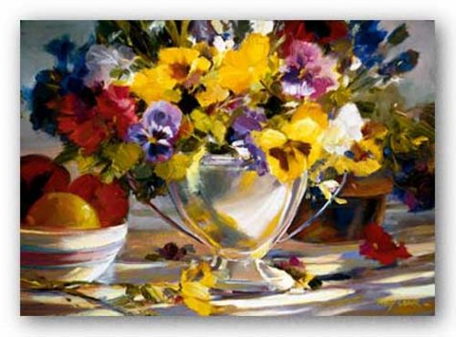Pansies In Silver by Betty Carr