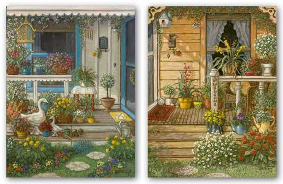 Summer Front Porch and Spring Front Porch Set by Janet Kruskamp