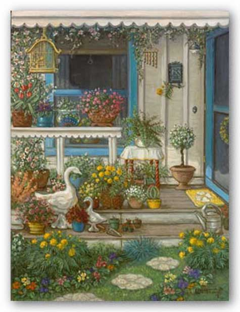 Spring Front Porch by Janet Kruskamp
