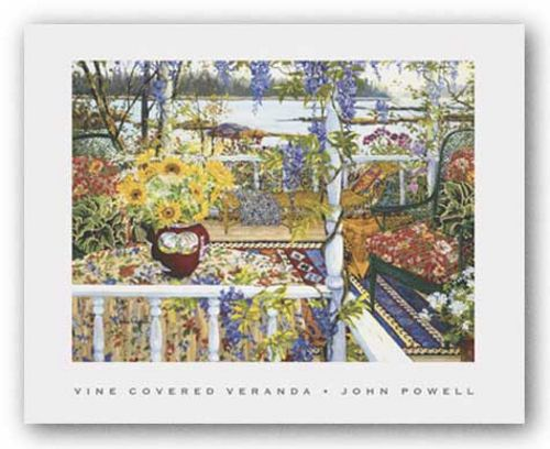 Vine Covered Veranda by John Powell