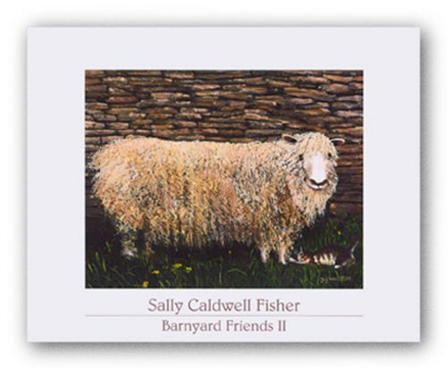 Barnyard Friends II - Portia and Weezer by Sally Caldwell Fisher