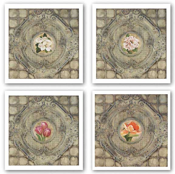 Victorian Tile Set by Peggy Abrams