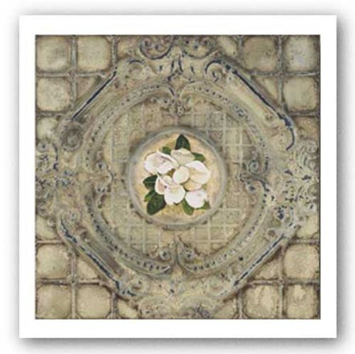 Victorian Tile - Magnolia by Peggy Abrams