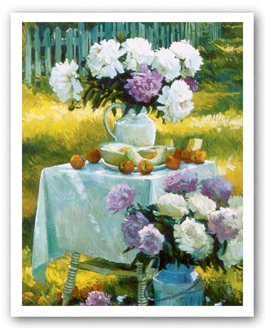 Peonies and Canteloupe by Don Ricks