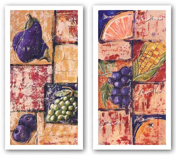 Vegetable Collage III and IV Set by Tara Gamel