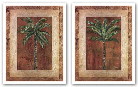 Palm With Border Set by Heather Duncan