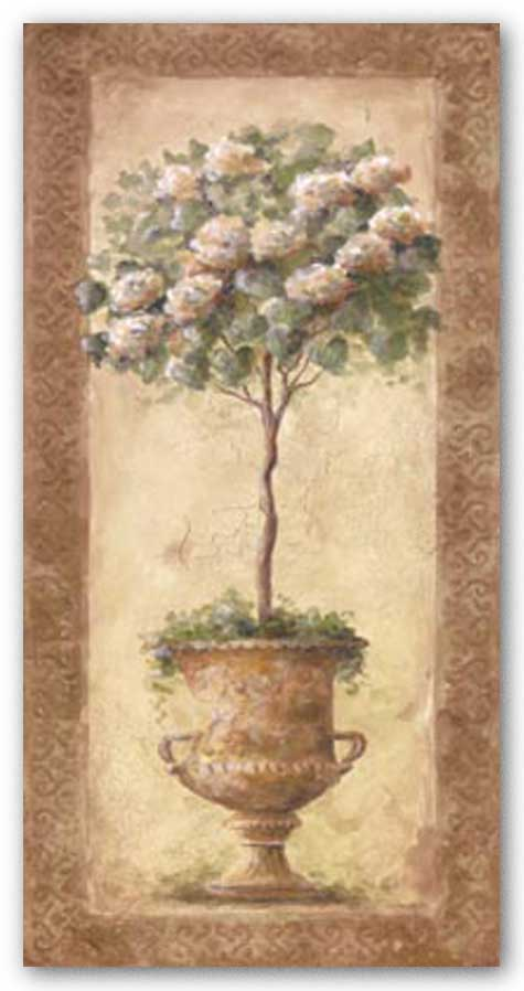 Floral Topiary I by Barbie White