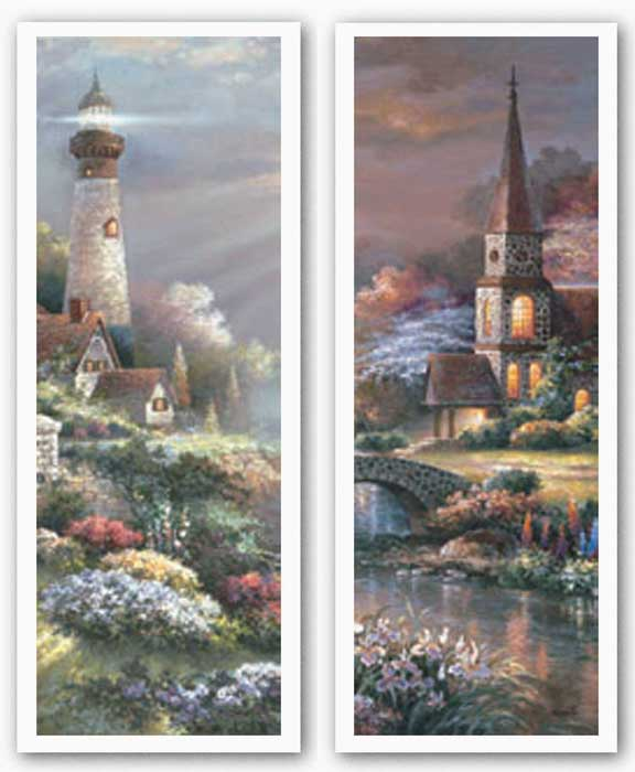 Peaceful Reflections Panel Set by James Lee