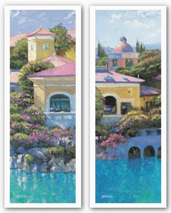 Lago Bellagio Panel Set by Howard Behrens