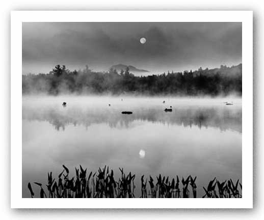 Lake Flower Moonset by Richard Nowicki