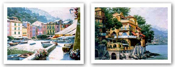 Portofino Villa and Light Set by Howard Behrens