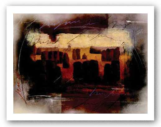 Tuscan Abstract I by Elizabeth Matrozos (Matroz)