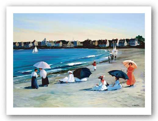 Beach Umbrellas by Sally Caldwell Fisher