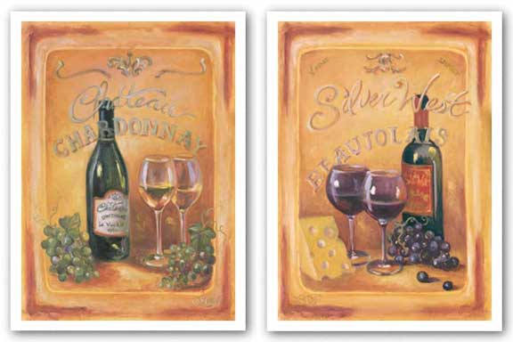 Silver West Beaujolais and Chateau Chardonnay Set by Shari White