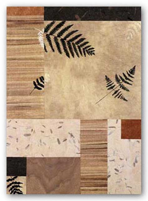 Collage With Leaves And Ferns II by Julieann Johnson