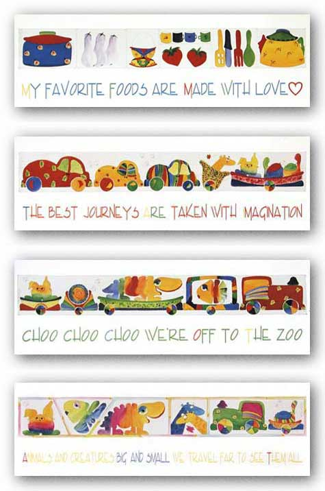 Favorite Foods-Imagination-Choo Choo-Animals and Creatures Set by Liat Yishay
