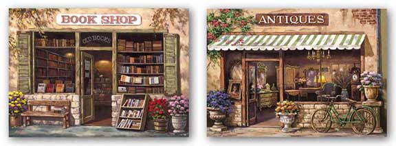 Antique Shop and Book Shop Set by Sung Kim