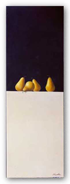 Four Pears by Rene Chavelle