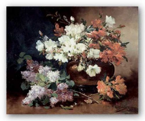 Still Life With Lilac by Eugene Henri Cauchois