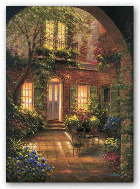 Spring Courtyard I by J. Martin