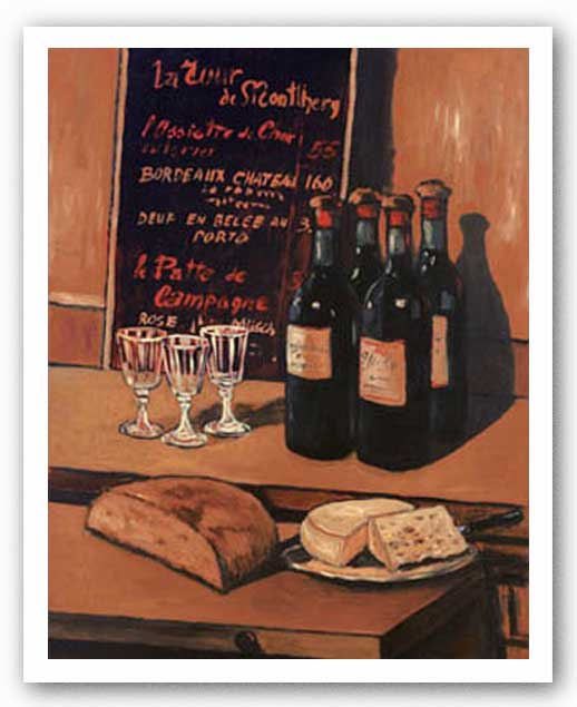 Wine, Bread and Cheese by Vladimir Petinow