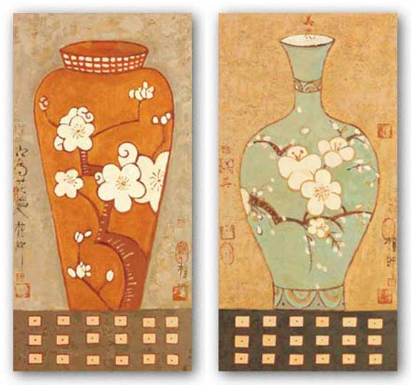 Asian Vase Set by Chi Young-Mi