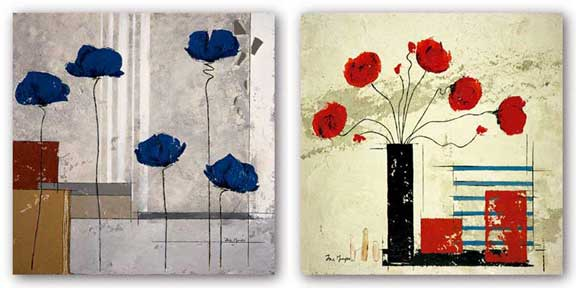 Les Coquelicots Set by Isabelle Maysonnave
