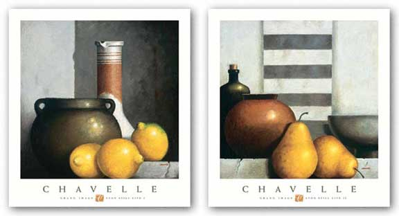 Lyon Still Life Set by Rene Chavelle