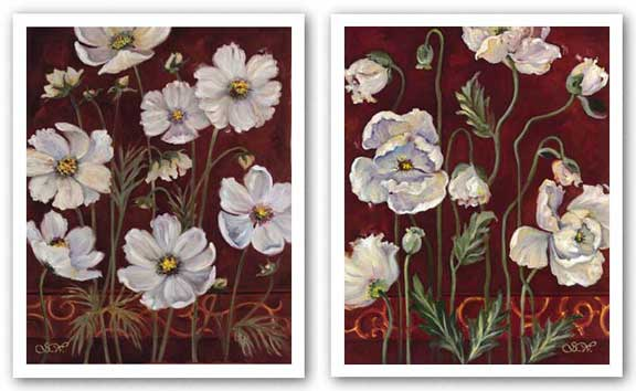 California Cosmos, Iceland Poppies Set by Shari White