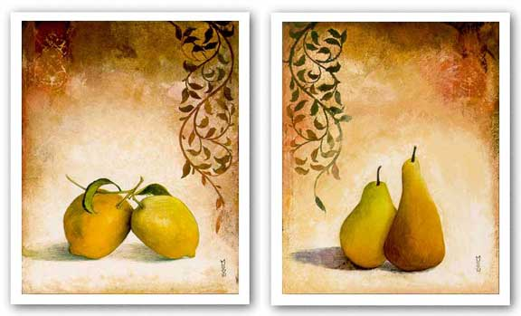 Pears One and Lemons One Set by Mei-Yu Lo