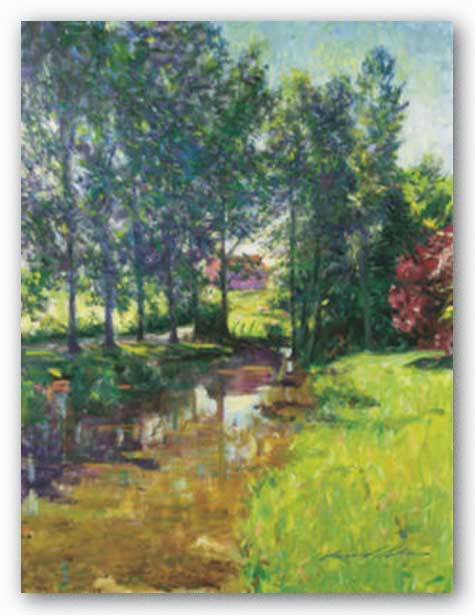 Stream at Genouilly by Leonard Wren