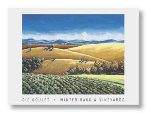 Winter Oaks and Vineyards by Cie Goulet