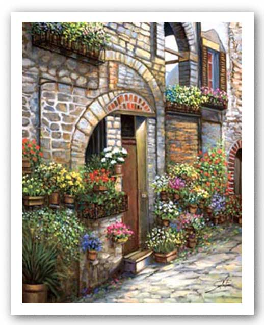 Flower Pots At Spello by Joe Sambataro