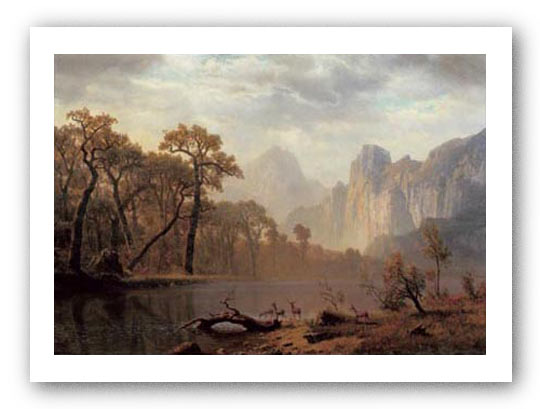 In The Yosemite Valley by Albert Bierstadt