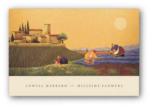 Hillside Flowers by Lowell Herrero